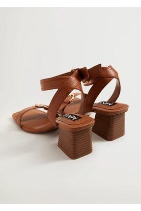 Mango Topuklu Deri Sandalet 2