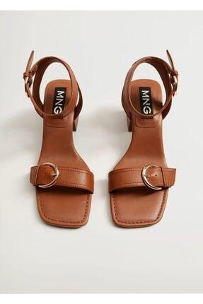 Mango Topuklu Deri Sandalet 4