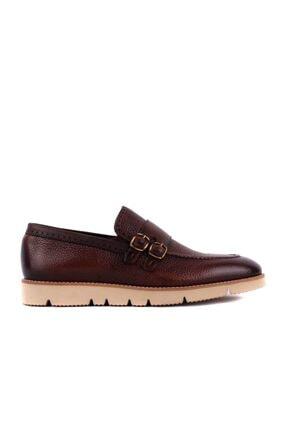 Picture of - Kahverengi Erkek Bağcıksız Deri Ayakkabı