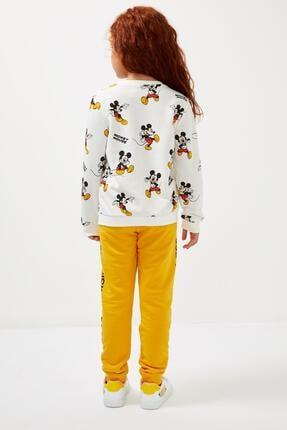 Defacto Kız Çocuk Sarı Mickey Mouse Lisanslı Eşofman Altı 1