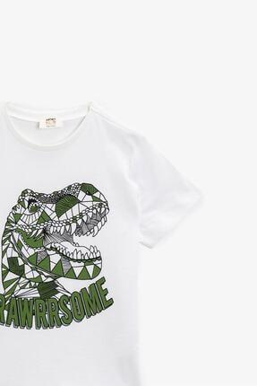 Koton Koton Erkek Çocuk T-shirt Ekru 1