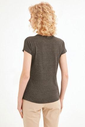 Fullamoda Kadın Antrasit Baskılı Tshirt 3