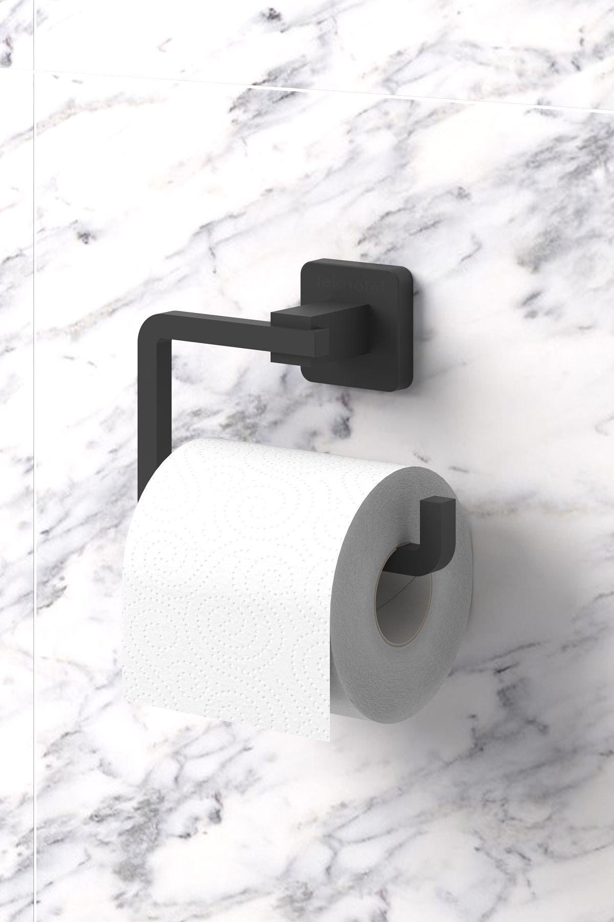 Ömür Boyu Paslanmaz Tuvalet Kağıtlık Mat Siyah Mg394