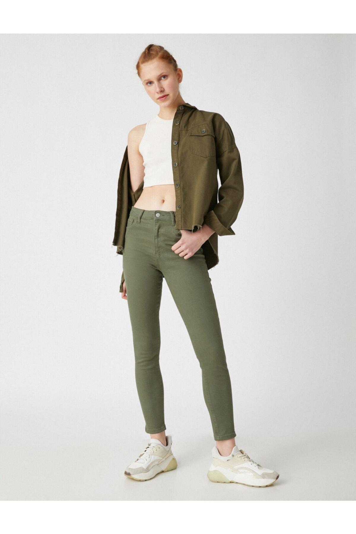 Kadın Carmen Jean - Yüksek Bel Dar Kesim Dar Paça Pantolon