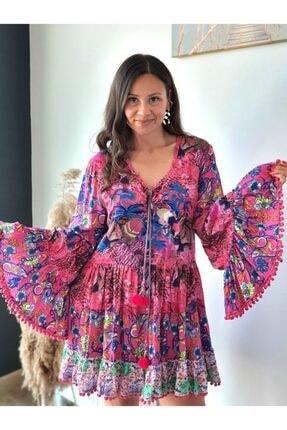 Kadın Trendbysena Üç Desen Elbise ADN881 ÜÇ DESEN ELBİSE