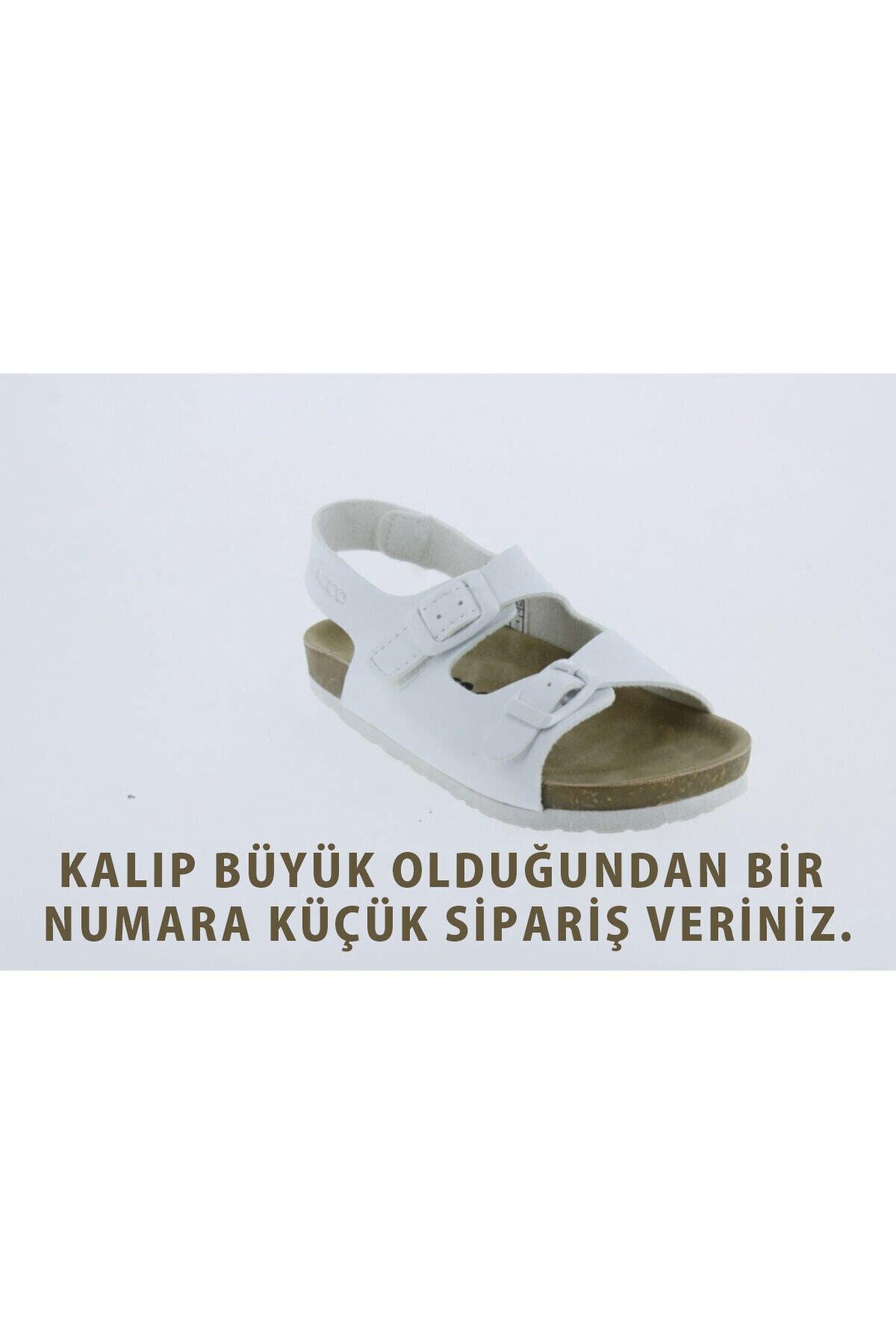 321.b20y.360 Kız Çocuk Beyaz Anatomik Sandalet Ayakkabı