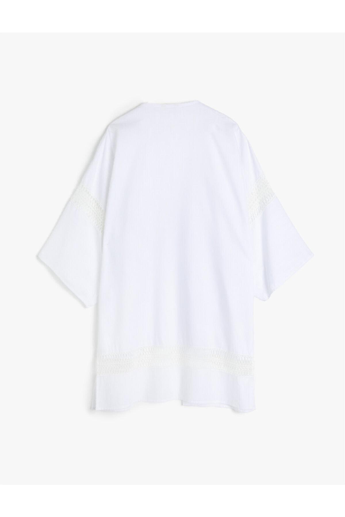 Kadın Beyaz Kimono&Kaftan 0YAK68207BW