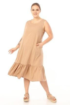 Picture of Kadın Büyük Beden Vizon Elbise 58