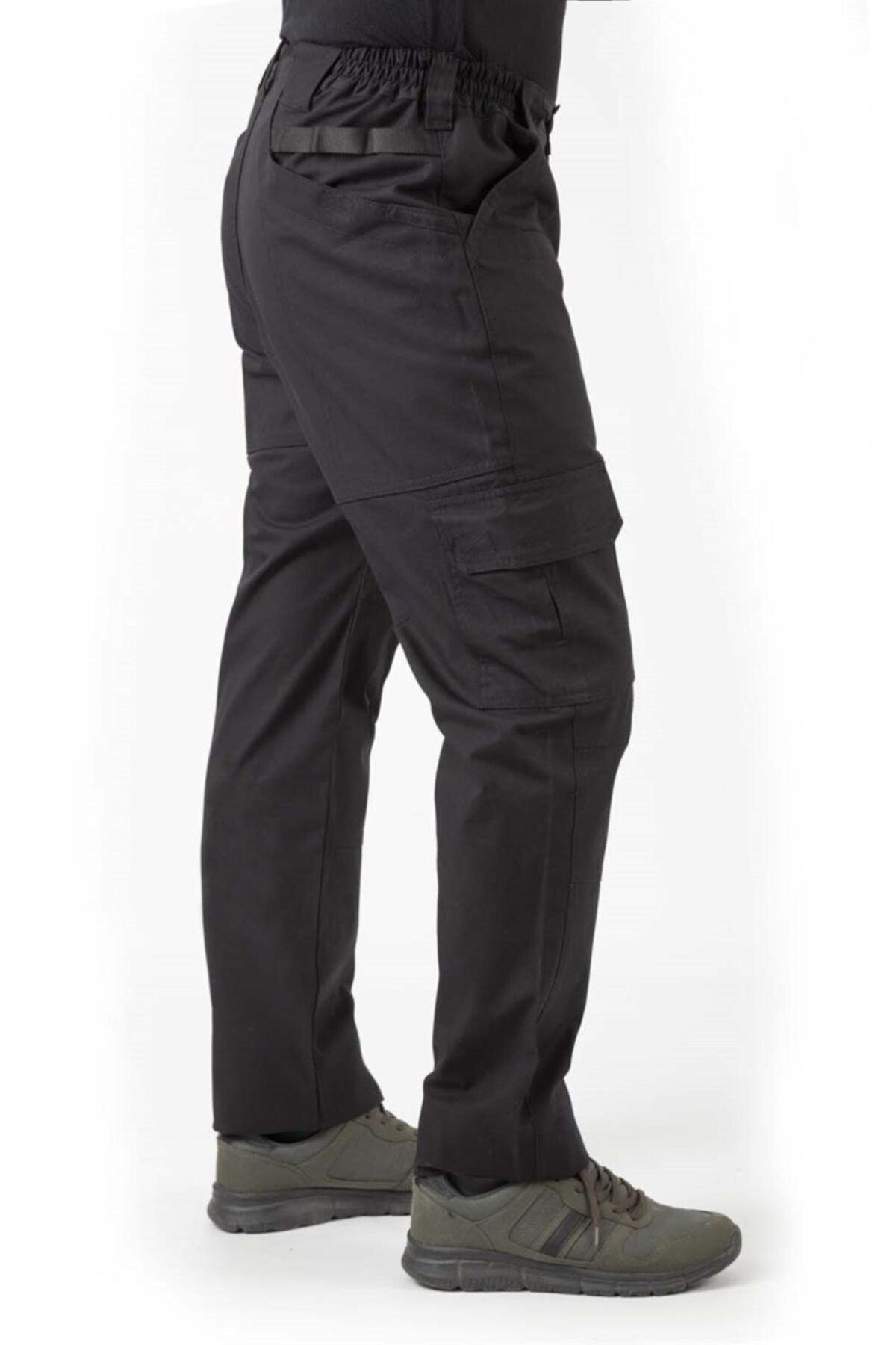 VAV WEAR Erkek Siyah Çok Amaçlı Dağ Pantolonu
