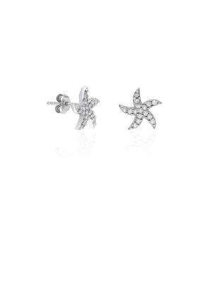 Çocuk Küpesi Yıldızlı Küpe Vidalı Gümüş Küpesi Kupe-300 KUPE-300
