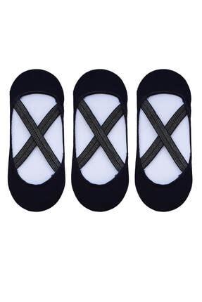 3lü Kadın Pilates Yoga Çorabı Çapraz Bantılı Çorap 43247