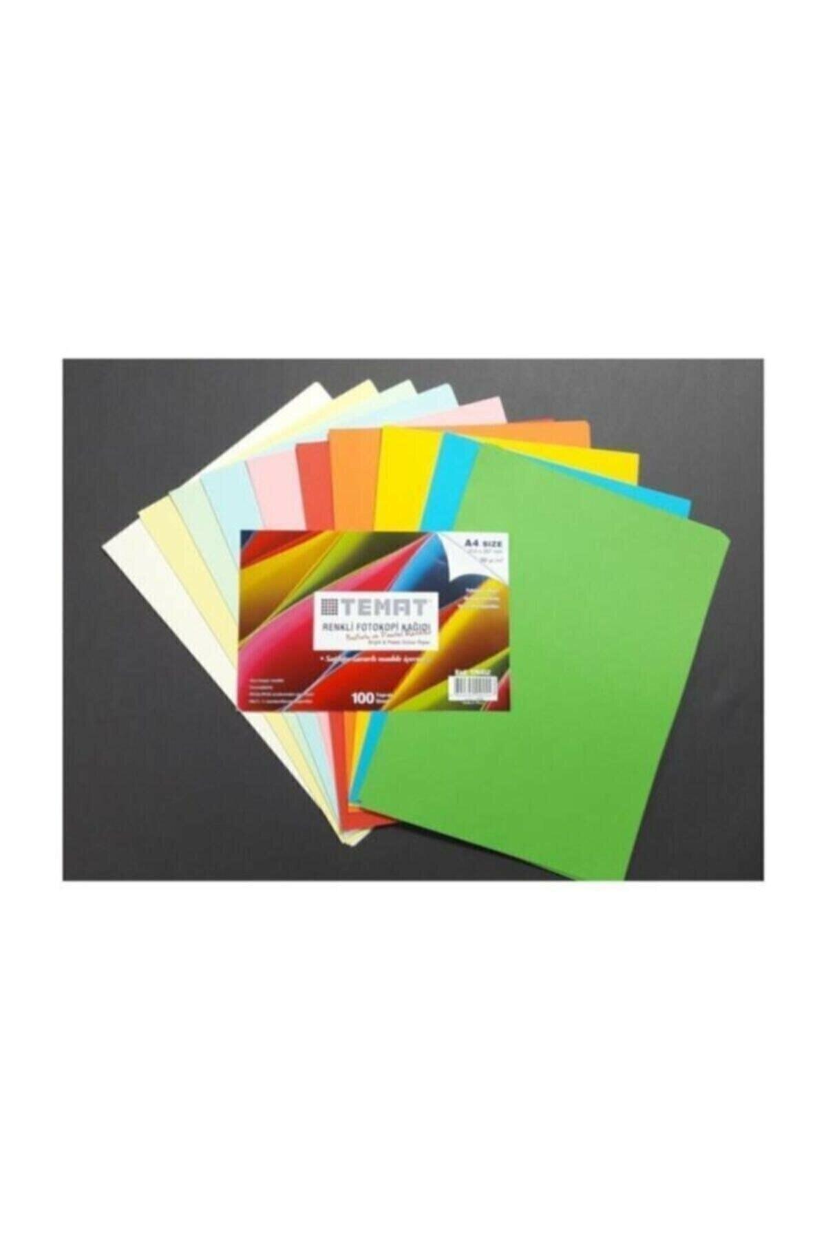 100'lü Renkli A4 Fotokopi Kağıdı