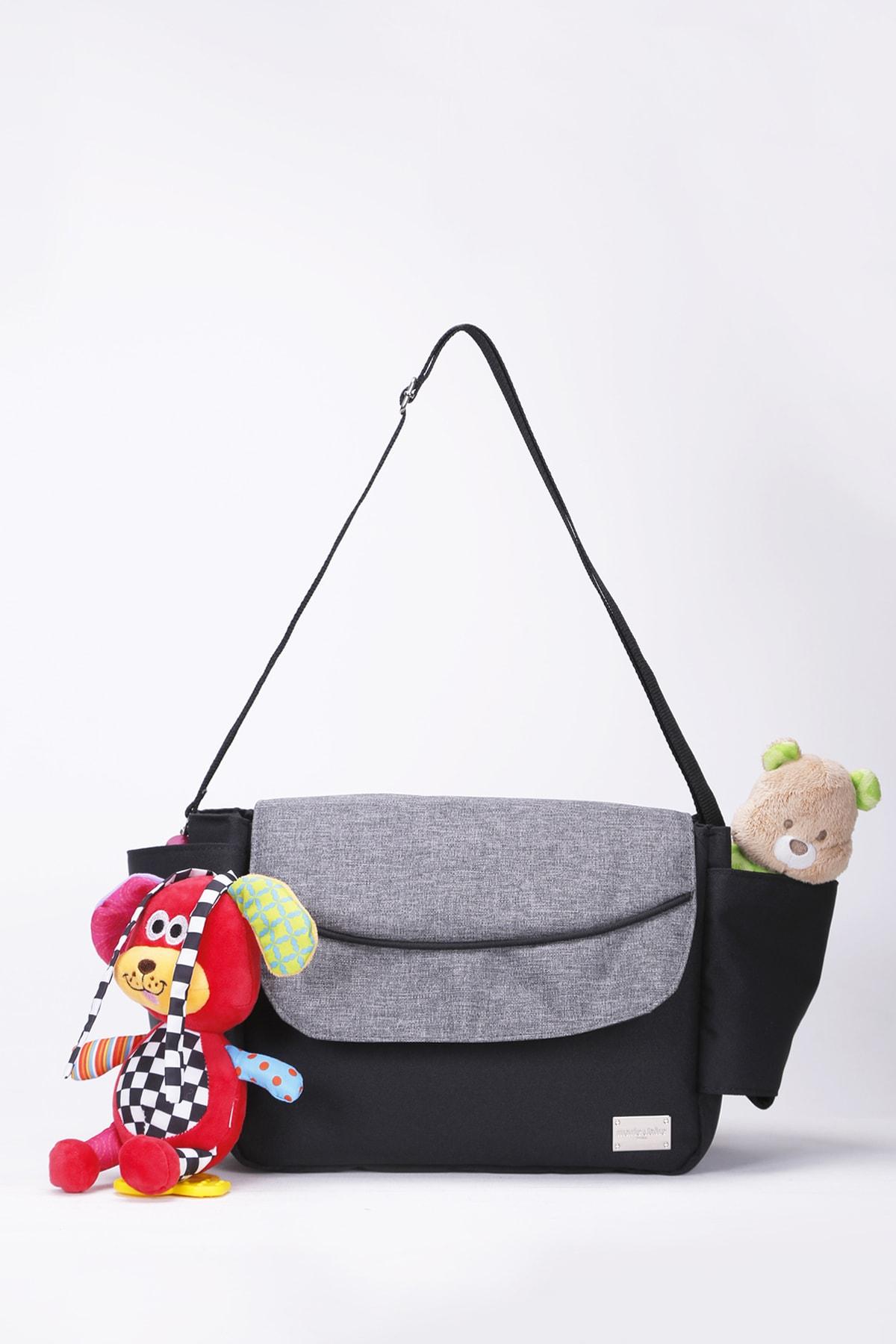 Gri Kadın Bebek Arabası Düzenleyici Çanta - Stroller Bag Mc212109078