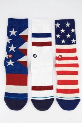 تصویر از Erkek 3lü Çorap Set Stars And Stripes Multi