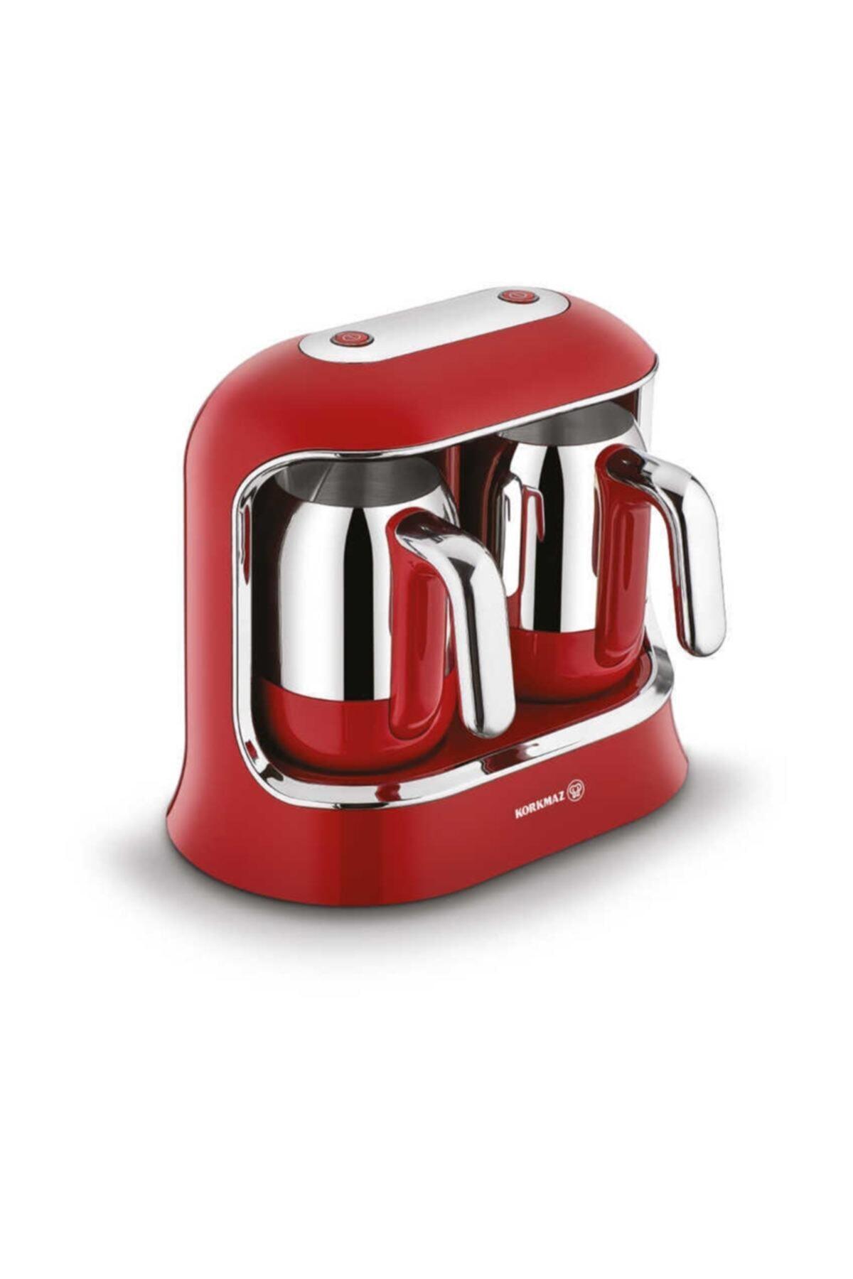Kahvekolik Twin Kahve Makinesi Kırmızı Krom A861