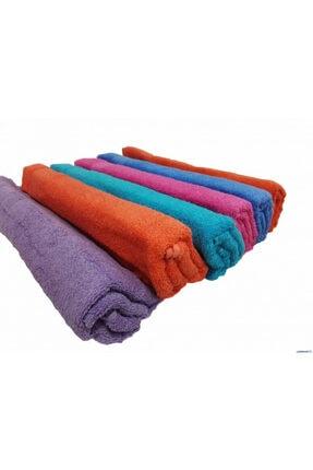 Renkli Havlu, Düz Renk Havlu, Okuluk Havlu 6 Adet SRTYHVL01