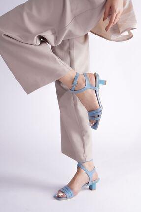 Kadın Topuklu Sandalet Ayakkabı AS0415