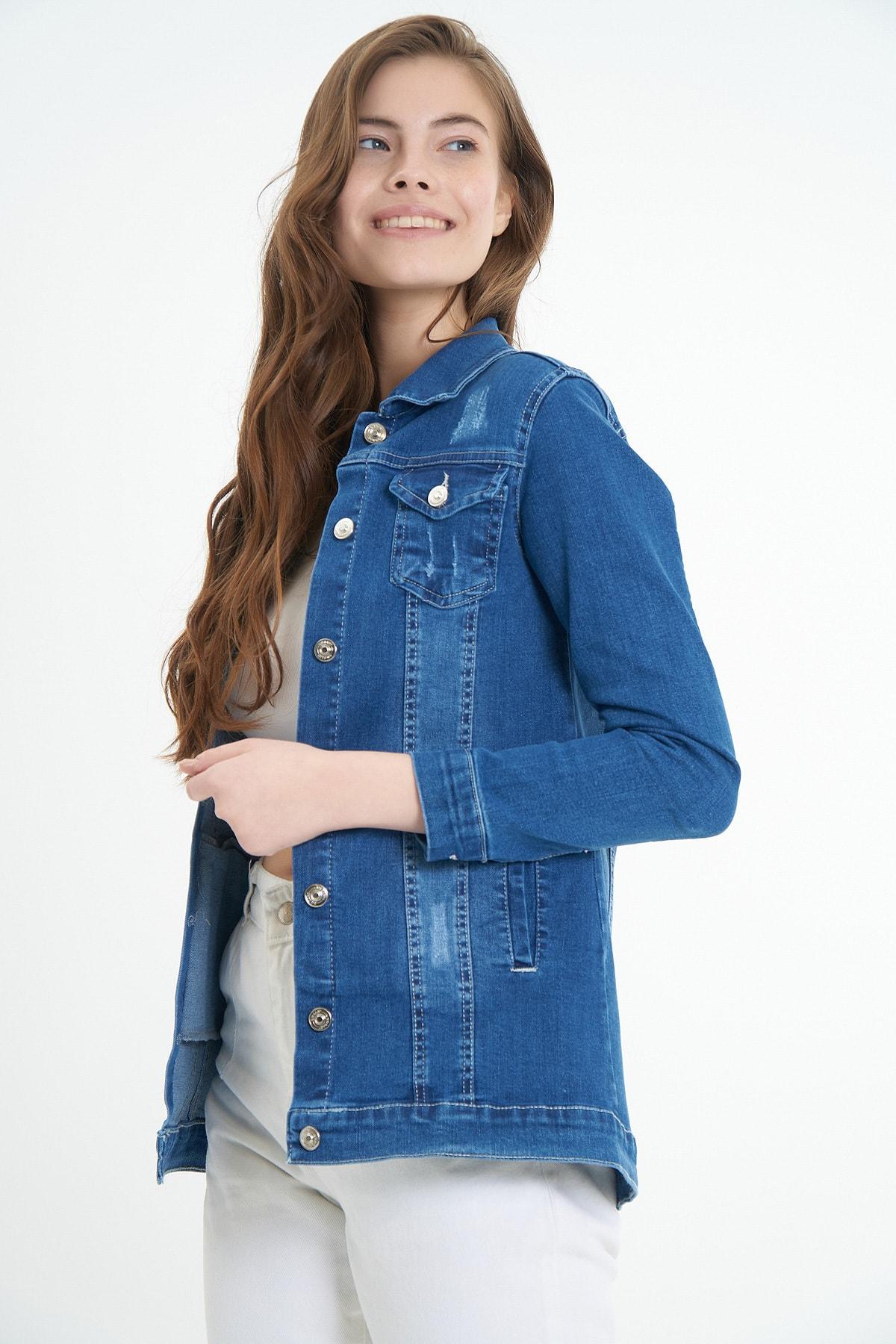 Kadın Basic Kot Ceket P21s110-5460