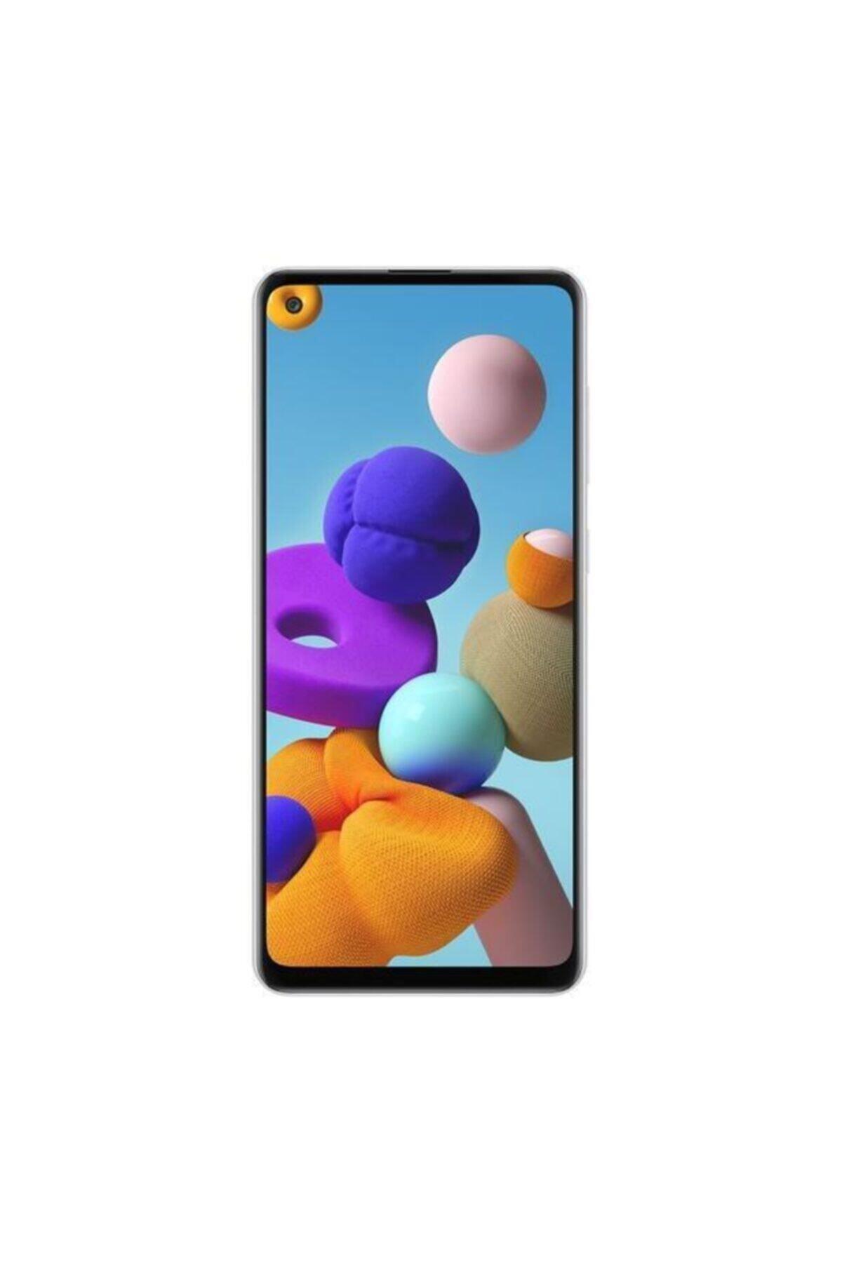 Galaxy A21s 128GB Beyaz Cep Telefonu (Samsung Türkiye Garantili)