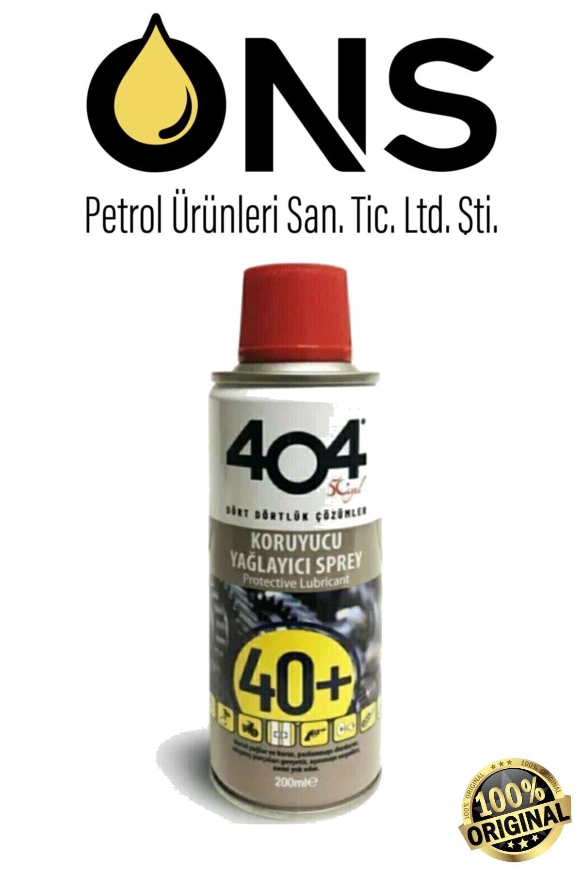 404 40+ Koruyucu Yağlayıcı Pas Sökücü Sprey 200 Ml