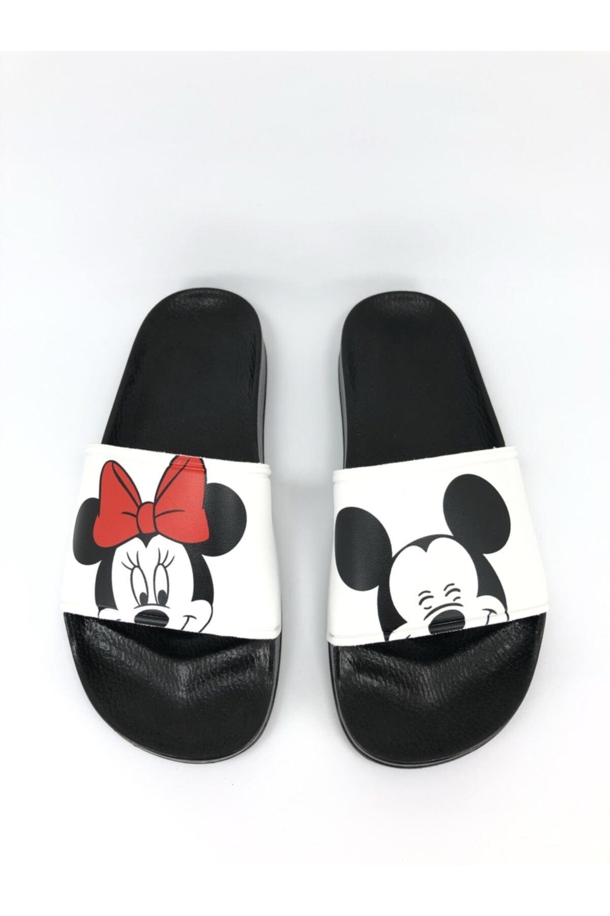 Mickey Ve Mouse Baskılı Kadın-kız Terliği