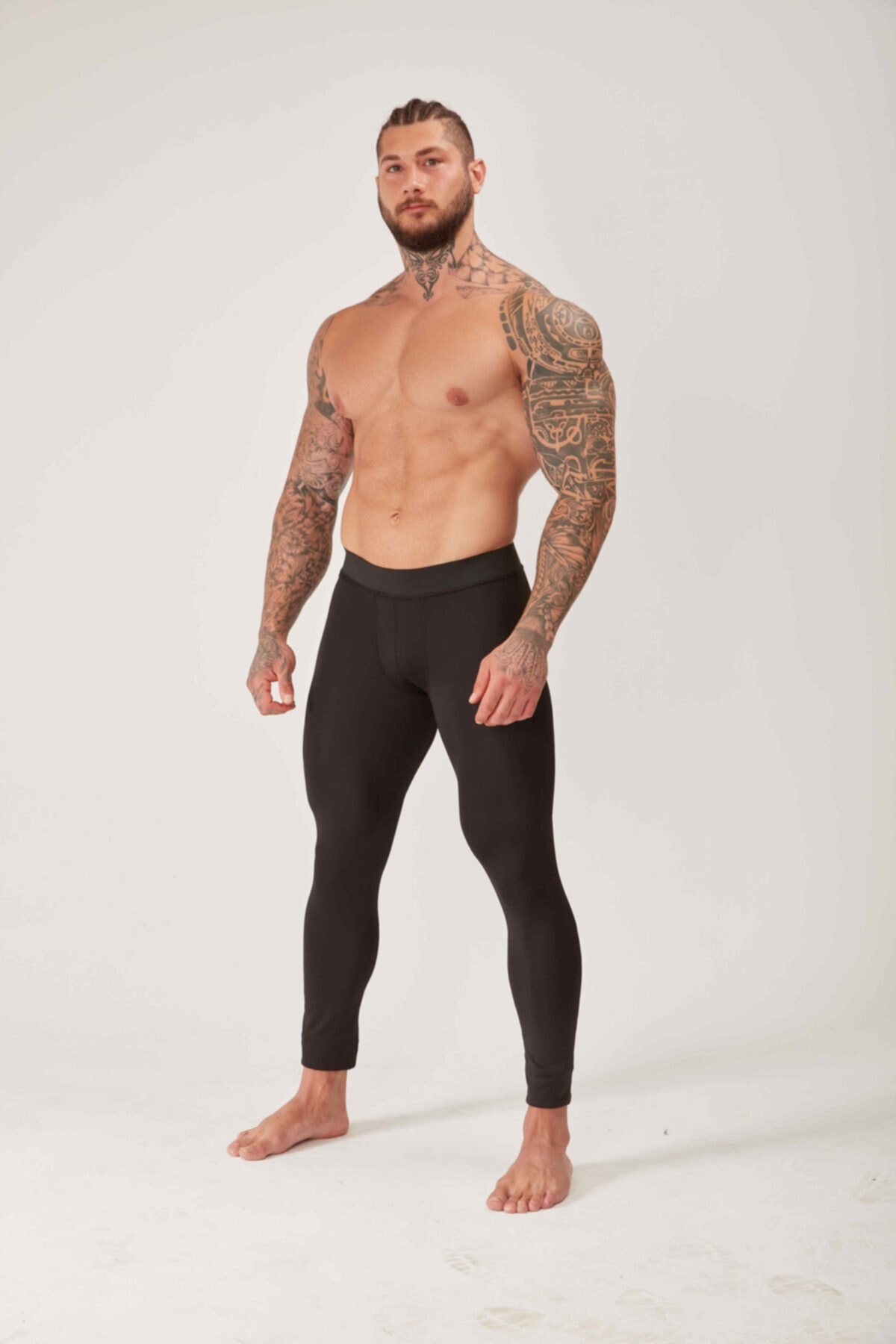 Musclestation Toughman Siyah Erkek Antreman 3/4 Tayt