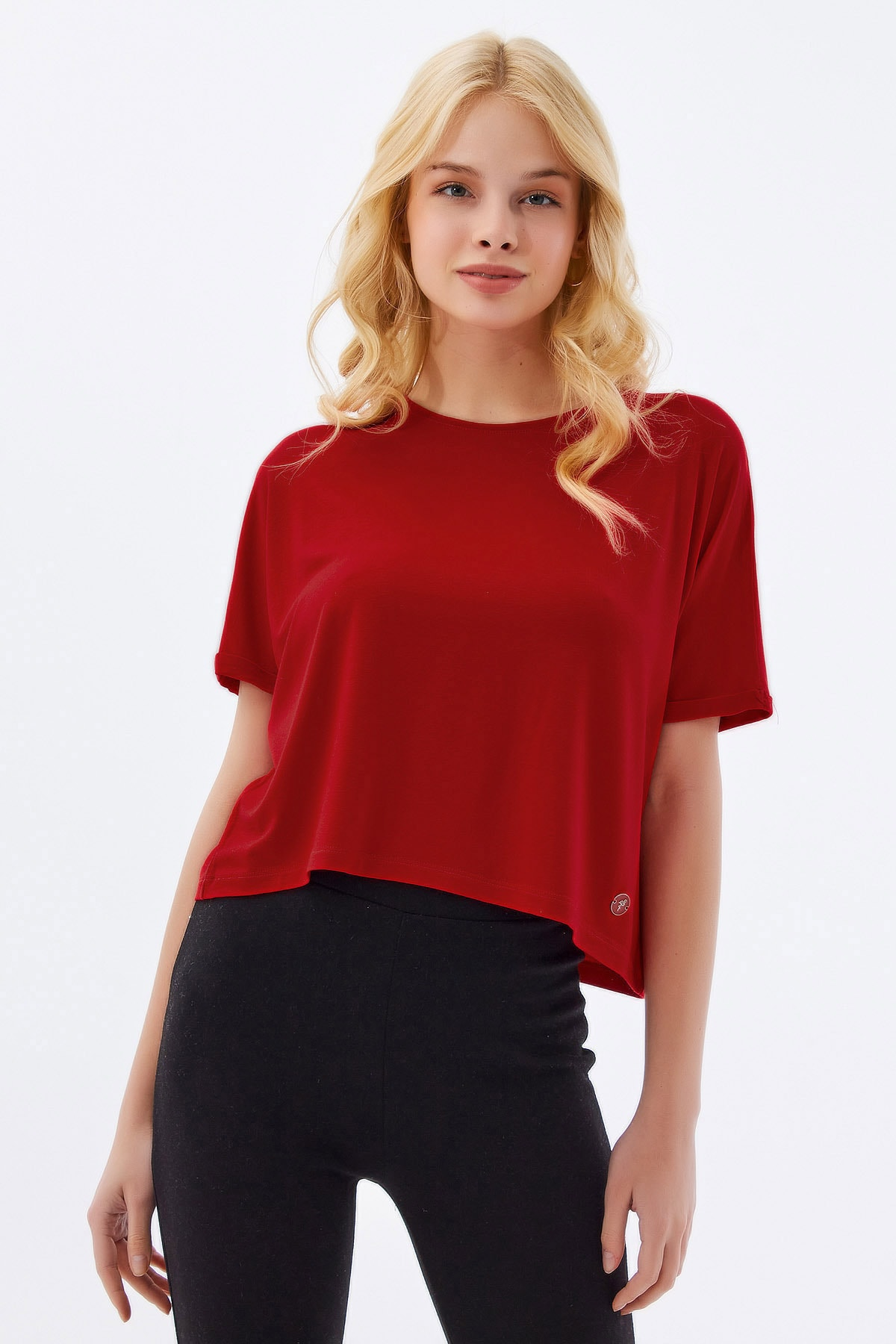 Kadın Basic Armalı T-Shirt