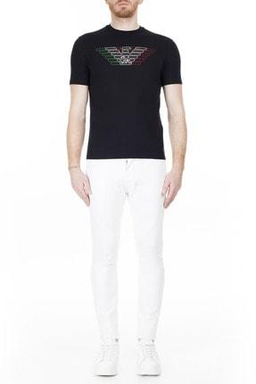 Emporio Armani Regular Fit T Shirt Erkek T Shirt 3H1T71 1J11Z 0999 4