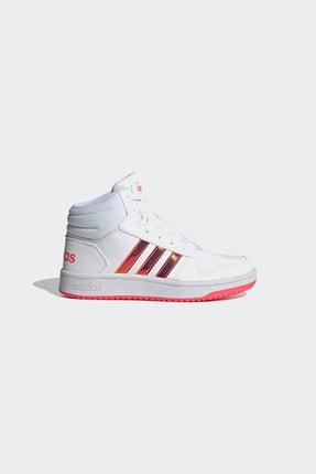 adidas HOOPS MID 2.0 K Beyaz Kız Çocuk Sneaker Ayakkabı 100663764 0