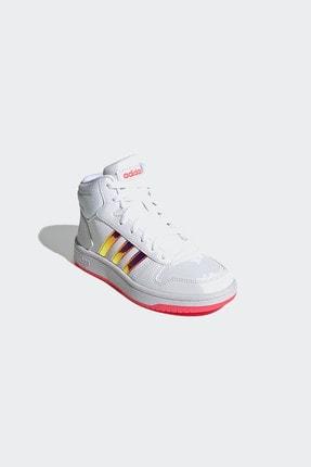 adidas HOOPS MID 2.0 K Beyaz Kız Çocuk Sneaker Ayakkabı 100663764 3