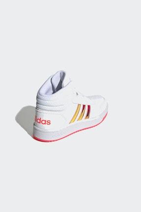 adidas HOOPS MID 2.0 K Beyaz Kız Çocuk Sneaker Ayakkabı 100663764 4