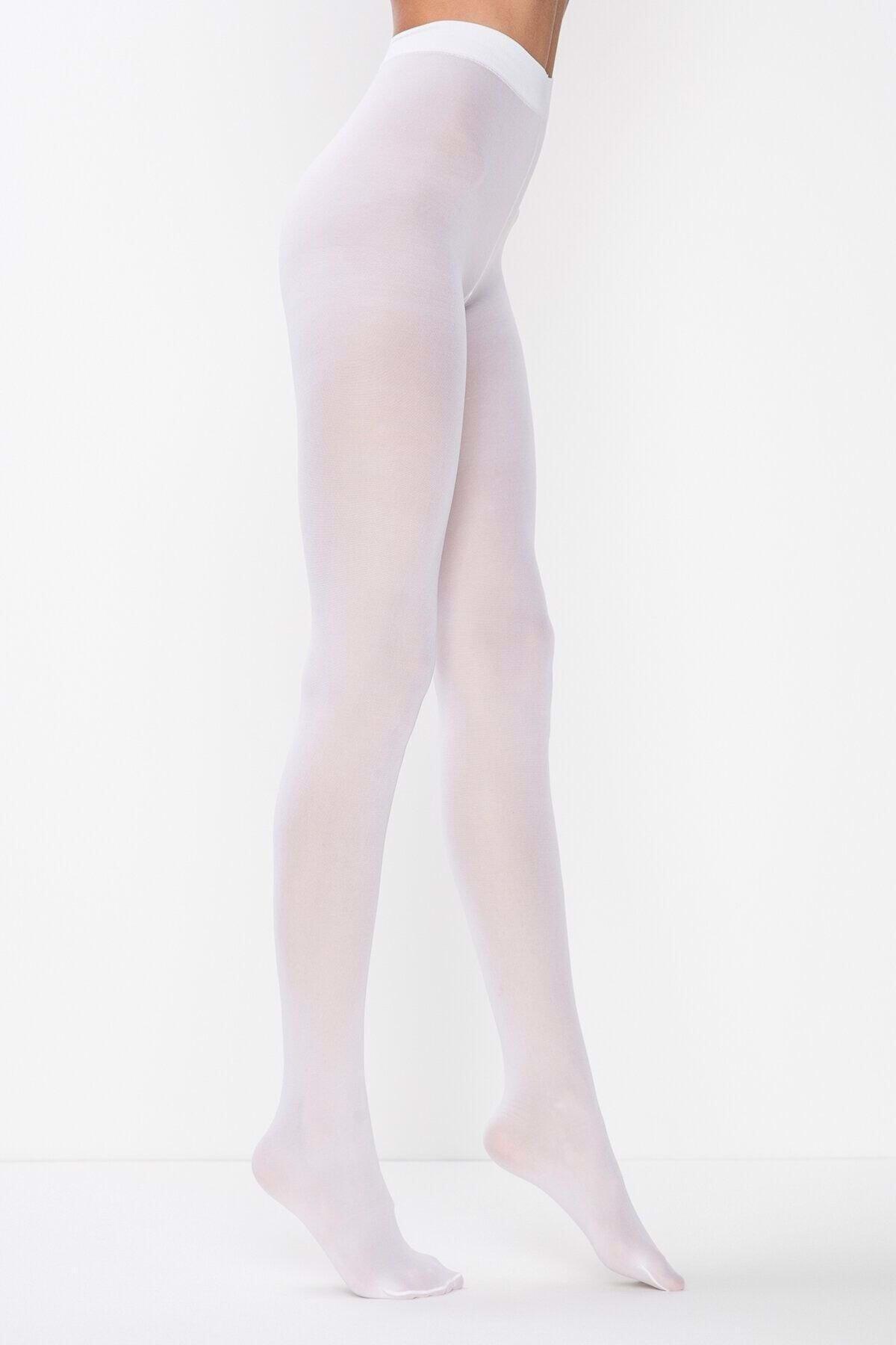 Kadın Beyaz Mikro 40 Külotlu Çorap