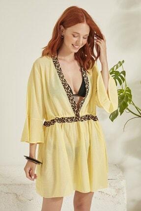 C City Kadın Sarı Pareo Plaj Elbisesi 1