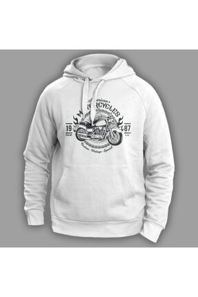American Motorcycles Beyaz Sweatshirt VECTORSK77