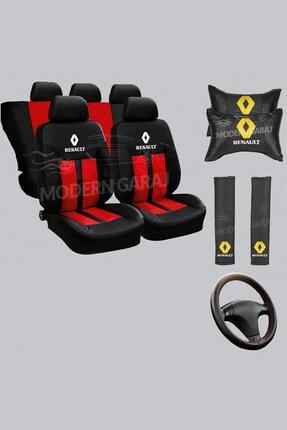 Modern Garaj Renault Koltuk Kılıfı Renault Boyun Yastığı Renault Kemer Pedi Renault Dikmeli Direksiyon Kılıfı 0