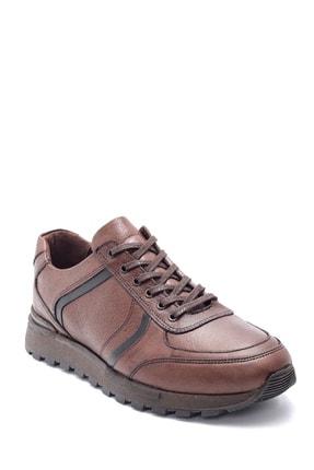 Derimod Erkek Kahverengi Deri Sneaker 1