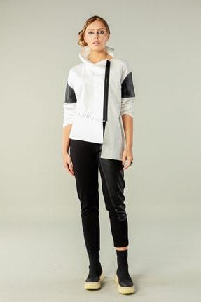 Butik Suat Kadın Beyaz Asimetrik Dikişli Gömlek 0