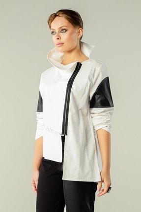 Butik Suat Kadın Beyaz Asimetrik Dikişli Gömlek 3