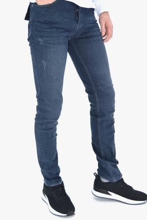 ds danlıspor Erkek Mavi Yıpratmalı Krinkıllı Likralı Kot Pantolon 0