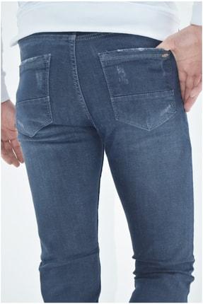 ds danlıspor Erkek Mavi Yıpratmalı Krinkıllı Likralı Kot Pantolon 3