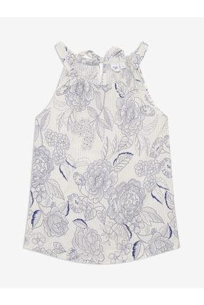 GAP Kadın Beyaz Desenli Kolsuz Bluz 0