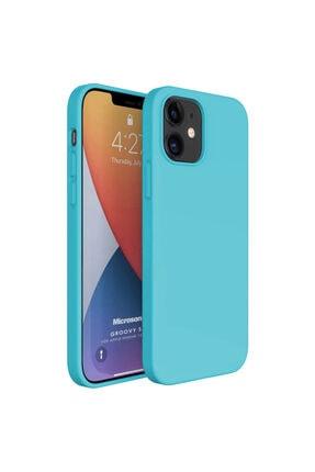 Microsonic Apple Iphone 12 Kılıf Groovy Soft Turkuaz 0