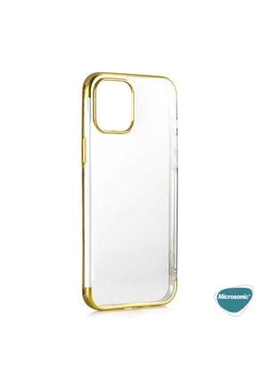 Microsonic Apple Iphone 12 Pro Max Kılıf Skyfall Transparent Clear Gold 2