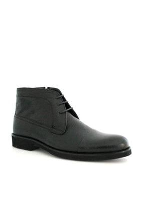 Beta Shoes Erkek Siyah Bağcıklı Bot 2