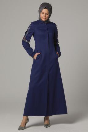Kadın Gece Mavisi Pardesü resmi