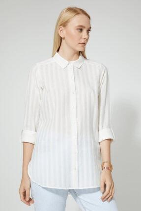 STELLA PULVIS Kadın Beyaz Pamuklu Gömlek 1