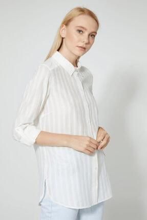 STELLA PULVIS Kadın Beyaz Pamuklu Gömlek 2