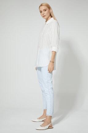 STELLA PULVIS Kadın Beyaz Pamuklu Gömlek 3