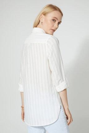 STELLA PULVIS Kadın Beyaz Pamuklu Gömlek 4