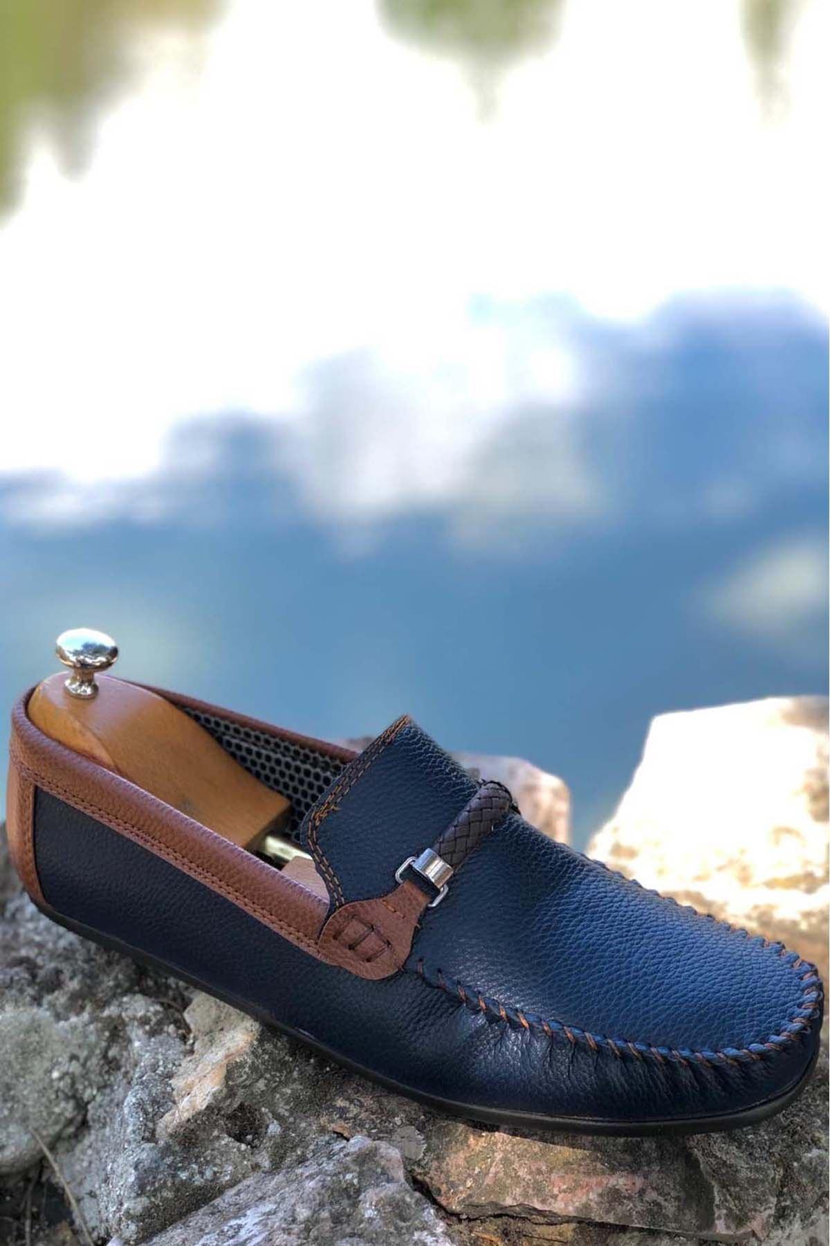Ortopedik Loafer Erkek Ayakkabı Mln1102 Laci Laci Taba